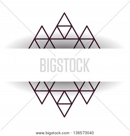 Aztec pattern element for your design. Vector illustration. For cards prints textile. Aztec pattern with shadow and place for text