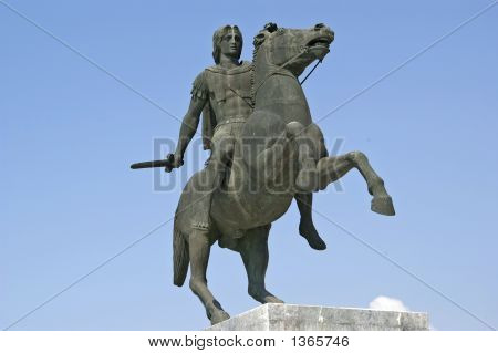 The Statue Of Alexander The Great In Thessaloniki
