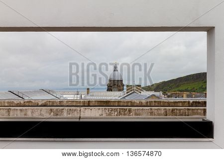 Picture-like View Of Old College And Pentland Hills, Edinburgh