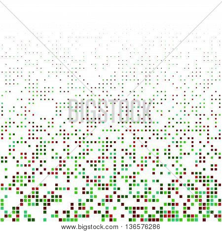 abstract color background with randomly skiped squares. Stock vector pattern