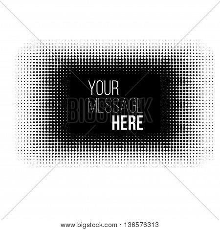 black and white rectangle halftone pattern. Stock vector backround.