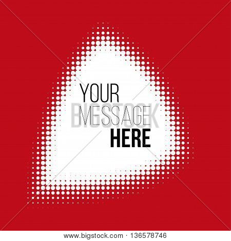 white halftone pattern on red backround. Stock vector pattern.