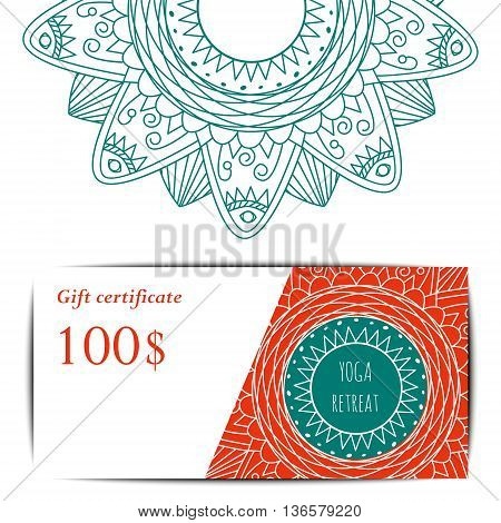 yoga gift certificate template