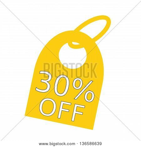30% OFF white wording on background yellow key chain