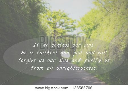 Inspirational Verse From The Bible On A Blurred Background