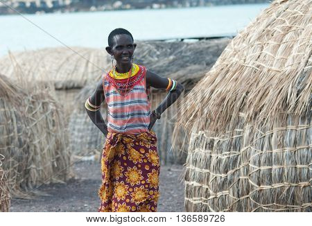 El Molo Woman  Near Lake Turkana