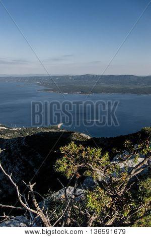 A view from Vidova Gora to Zlatni Rat