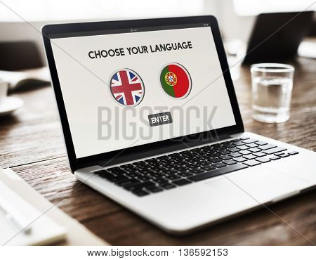 Portugal English Communication Language Concept