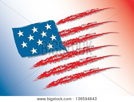 United States flag. USA Independence Day background. Fourth of July celebrate.