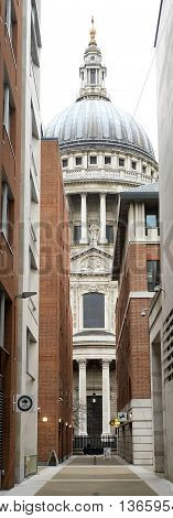 St Paul's Cathedral as seen from Paternoster Square, London, England