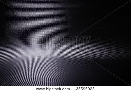 Dark and black carbon fiber background texture