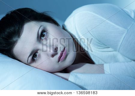 Young Woman In The Night