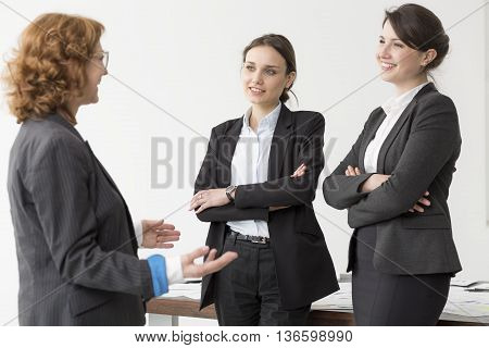 Mature Boss And Her Two Employees