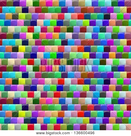 Heterogeneous corrugated surface. Seamless pattern colorfull background