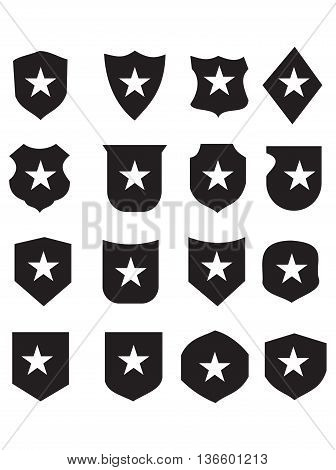 star shields shielding shield symbol coat of arms badge vector