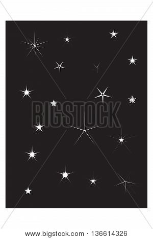 Set of Vector Sparkles Star natural phenomenon symbol