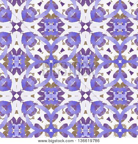 vector pattern ornamets viola decjration reapit tile like watercolors