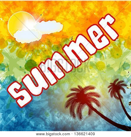 Summer time, text, summer day,summer wallpaper,summer background,summer art,summer image,summer design,summer travel,summer poster