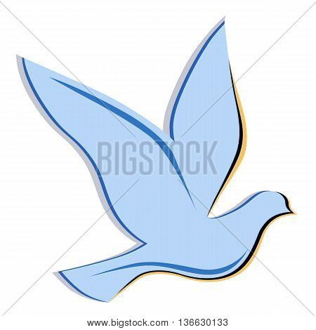 Soaring dove logo vector illustration isolated on background