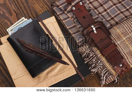 Set Of Different Man's Things