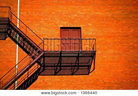 Old Building Stairs, El Paso, Texas