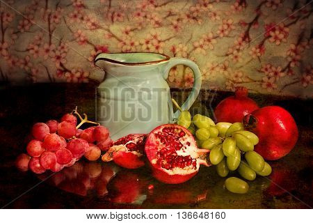 fruit juice can not wait to drink. a delicacy