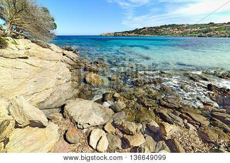 Cala Granu beach in Costa Smeralda Italy