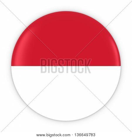 Monegasque / Indonesian Flag Button - Flag Of Monaco / Indonesia Badge 3D Illustration