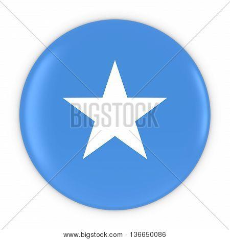 Somalian Flag Button - Flag Of Somalia Badge 3D Illustration