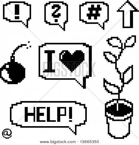 pixel art set vector