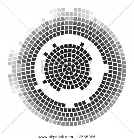 mosaic round vector