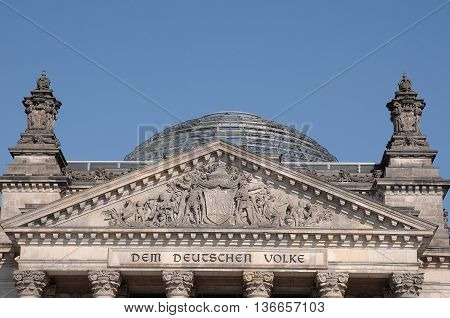 City of Berlin, the famous capital of germany