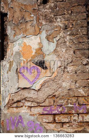 Damaged Old Wall