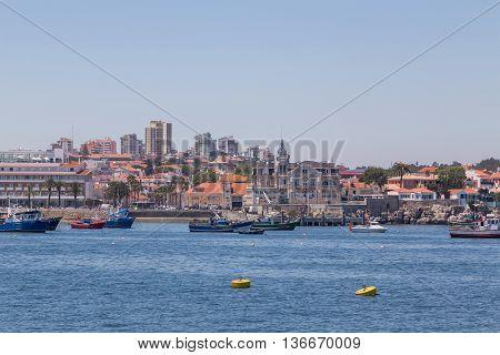 Fishery Boats In Coast Marine