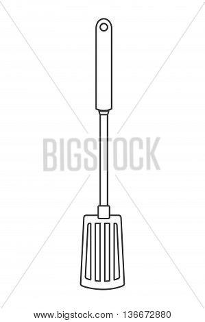 simple line design kitchen spatula icon vector illustration