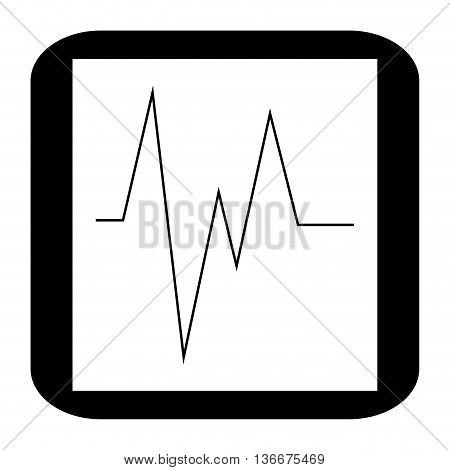 simple flata design electrocardiogram monitor icon vector illustration