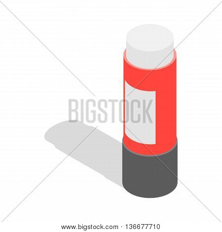 Stationery glue icon in isometric 3d style isolated on white background. School supplies symbol
