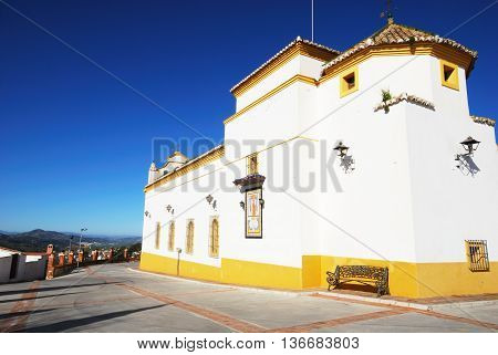 Maria Santisima de la Candelaria church Colmenar Andalusia Spain Western Europe.