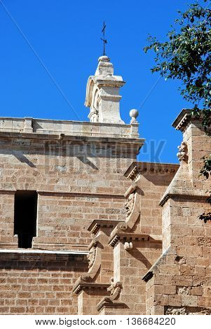 Side view of the Cathedral Almeria Almeria Province Andalusia Spain Western Europe.