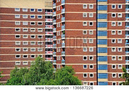 Residential tower blocks Tamworth Staffordshire England UK Western Europe.