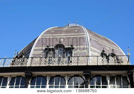 The Octagon Hall dome in the Pavilion Gardens Buxton Derbyshire England UK Western Europe.