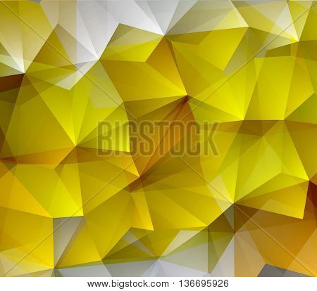 Orange yellow magenta abstract geometric rumpled triangular low poly style gradient illustration graphic background. Vector polygonal design for your business.
