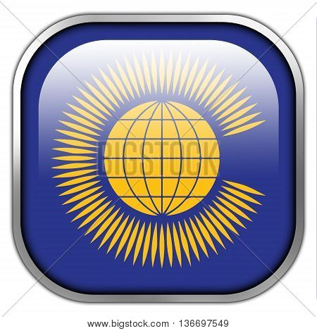 Flag Of The Commonwealth Of Nations, Square Glossy Button