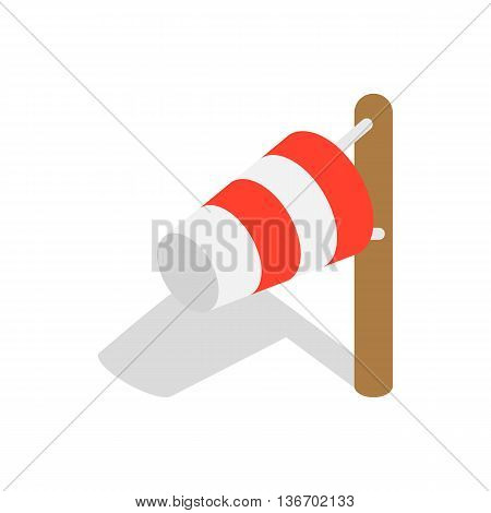 Windsock icon in isometric 3d style on a white background