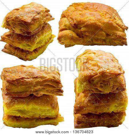 Home cake stack muffin cupcake closeup many temptation dessert fattening.