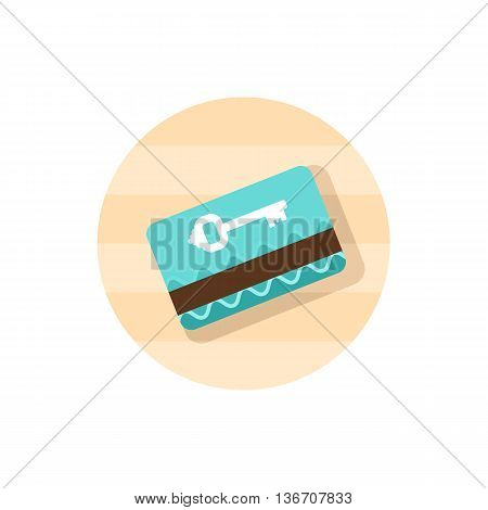 Electronic keycard vector icon. Key card. Travel. Summer. Summertime. Holiday. Vacation eps 10