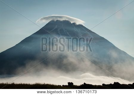 Fuss Peak Volcano At  Paramushir Island In  Russia