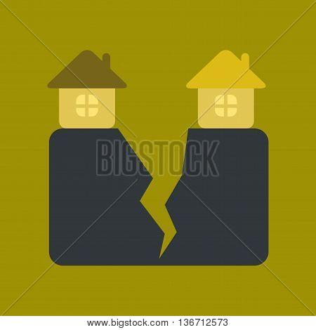 flat icon on stylish background nature house earthquake