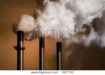 Power Plant Chimney Stacks