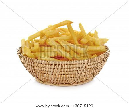French Fries in basket chips food snack